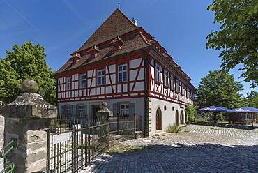 Historic inn Zur Krone built 1704/05, today Franconian Open Air Museum, Bad Windsheim, Middle Franconia, Bavaria, Germany, Europe
