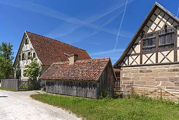 Historic farmstead, built in 1711, today Franconian Open Air Museum, Bad Windsheim, Middle Franconia, Bavaria, Germany, Europe