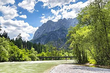 River Enns, summit of the Hochtor group, Gesaeuse National Park, Styria, Austria, Europe