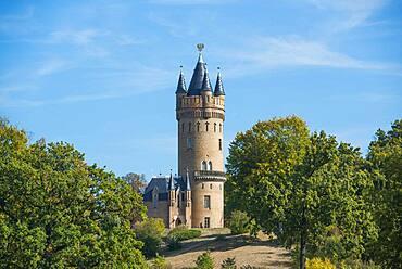Flatow Tower, Park Babelsberg, UNESCO World Heritage Site, Babelsberg, Potsdam, Brandenburg, Germany, Europe