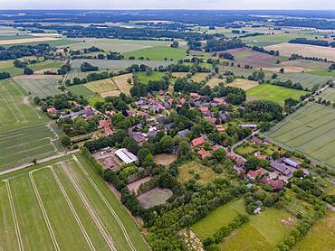 The Rundlingsdorf Satemin is one of the 19 Rundlings villages that have applied to become a UNESCO World Heritage Site. Satemin, Lower Saxony, Germany, Europe