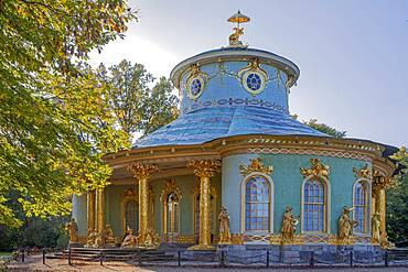 Chinese Pavilion in Sanssouci Park Potsdam, Brandenburg, Germany, Europe