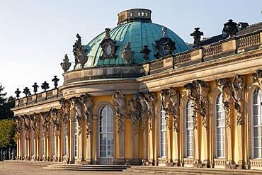 Sanssouci Palace Potsdam, Brandenburg, Germany, Europe