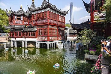 Huxinting Tea House in the Yu Yuan Garden in Huangpu, back Shanghai, People's Republic of China