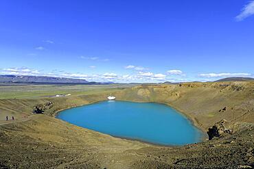 Crater Lake Viti, Krafla, Skutustaoir, Norourland eystra, Iceland, Europe