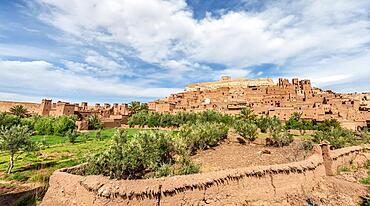 Fortified village, residences of the Kasbah Ait Benhaddou, High Atlas, Ksar Ait Benhaddou, Ouarzazate Province, Souss-Massa-Draa, Morocco, Africa