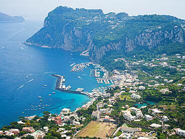 View of Marina Grande, Capri, Gulf of Naples, Campania, Italy, Europe