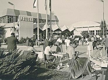 Zagreb Fairgrounds 1961 with Polish Pavilion, then Socialist Republic of, Federative People's Republic of Yugoslavia, Croatia, Europe