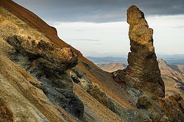 Rhyolite Mountains, Brennisteinsalda, Landmannalaugar, Highlands, Iceland, Europe