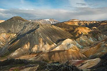 Laugahraun Lava Field, Rhyolite Mountains, Landmannalaugar, Highlands, Iceland, Europe