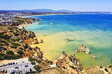 Cliffs and beaches in Ponta da Piedade, Lagos, Algarve, Portugal, Europe