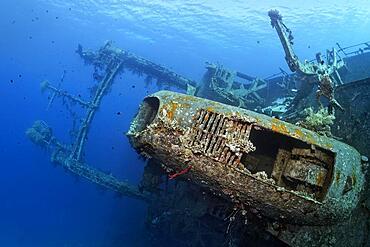 Chimney, Superstructure, Shipwreck, Wreck, Cedar Pride, Red Sea, Aqaba, Kingdom of Jordan