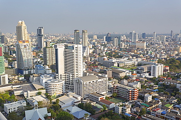 Elevated view of city skyline, Bangkok, Thailand, Southeast Asia, Asia