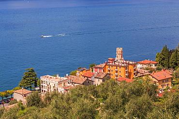 View of Lake Garda from near Albisano on Lake Garda, Veneto, Italian Lakes, Italy, Europe