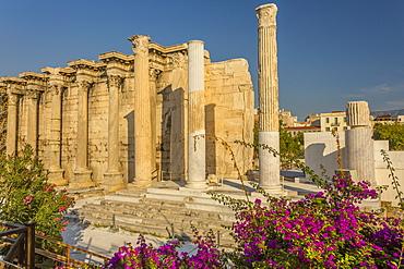 View of Hadrian's Library, Monastiraki District, Athens, Greece, Europe