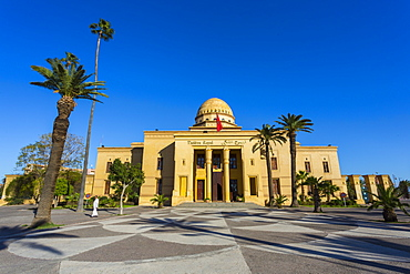 View of Royal Theatre on Avenue Mohammed VI, Marrakesh, Morocco, North Africa, Africa