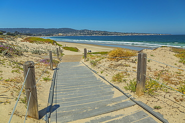 Path leading to Beach, Monterey Bay, Peninsula, Monterey, Pacific Ocean, California, United States of America, North America