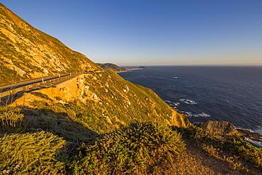 View of Big Sur Coastline, Highway 1, Pacific Coast Highway, Pacific Ocean, California, United States of America, North America