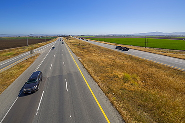 View of Highway 101, near Monterey, California, United States of America, North America