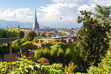 View of Turin from near Santa Maria del Monte dei Cappuccini, Turin, Piedmont, Italy, Europe