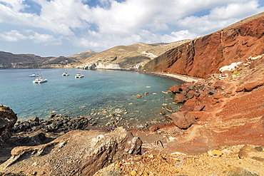 Red Beach in Akrotiri, Santorini, Greece, Europe