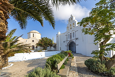 Saint George Church in Pyrgos, Santorini, Greece, Europe