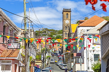 View of Cathedral of the Immaculate Conception in St. George's, Grenada, Windward Islands, West Indies, Caribbean, Central America