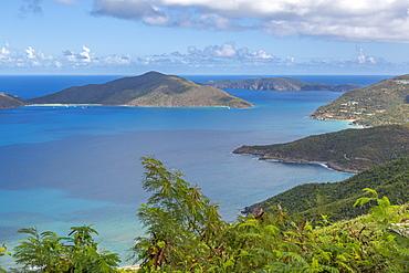 View of North coastline, Tortola, British Virgin Islands, West Indies, Caribbean, Central America