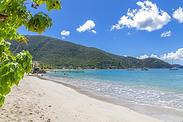 View of Cane Garden Bay Beach, Tortola, British Virgin Islands, West Indies, Caribbean, Central America