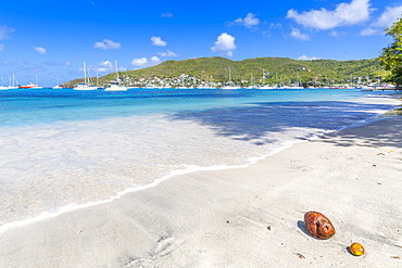 Beach at Port Elizabeth, Admiralty Bay, Bequia, The Grenadines, St. Vincent and the Grenadines, Windward Islands, West Indies, Caribbean, Central America
