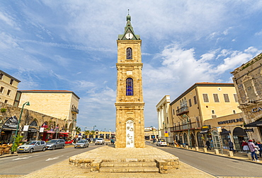 View of The Clock Tower, Jaffa Old Town, Tel Aviv, Israel, Middle East