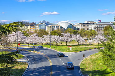 View of United States Institute of Peace, Washington D.C., United States of America, North America