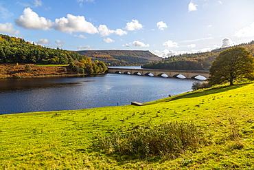 View of Ladybower Reservoir, Derbyshire, Peak District National Park, England, United Kingdom, Europe