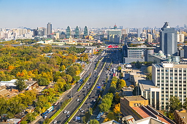 Elevated view of Beijing Zoo and surrounding area, Beijing, People's Republic of China, Asia
