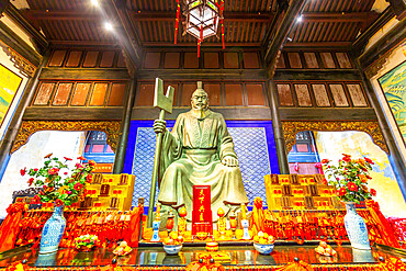 View of Emperor Yu's Palace in Arhat Buddhist Temple, Yuzhong District, Chongqing, China, Asia