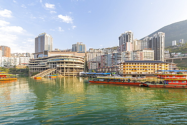 View of Enshi City on the Yangtze River, Badong County, People's Republic of China, Asia