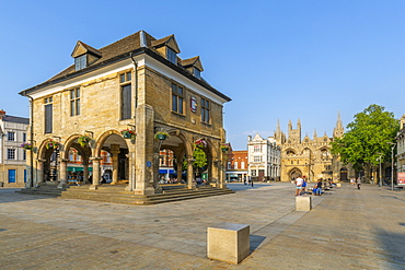 View of Guild Hall in the Town Square, Peterborough, Northamptonshire, England, United Kingdom, Europe