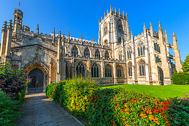 View of St. Marys Church on a sunny day, Beverley, North Humberside, East Yorkshire, England, United Kingdom, Europe