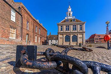 View of the Customs House, Purfleet Quay, Kings Lynn, Norfolk, England, United Kingdom, Europe - 844-23626