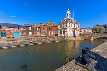 View of the Customs House, Purfleet Quay, Kings Lynn, Norfolk, England, United Kingdom, Europe - 844-23628