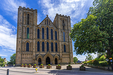 View of Ripon Cathedral Church of St Peter and St Wilfrid, Ripon, North Yorkshire, England, United Kingdom, Europe