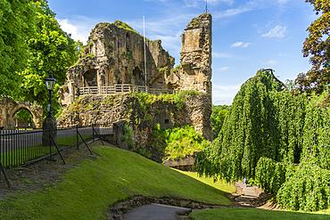 View of the King's Tower at Knareborough Castle, Knaresborough, North Yorkshire, England, United Kingdom, Europe
