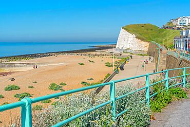 View of Saltdean Cliffs from Saltdean Beach, Saltdean, Brighton, Sussex, England, United Kingdom, Europe