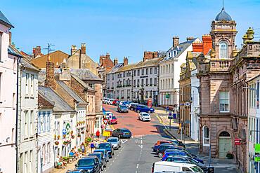 View of buildings on Hide Hill, Berwick-upon-Tweed, Northumberland, England, United Kingdom, Europe
