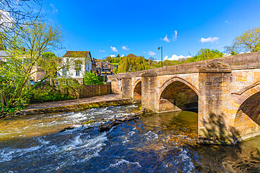 View of bridge of the Derwent River in Matlock Town, Derbyshire, United Kingdom, Europe