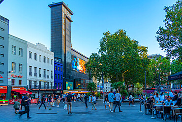 View of Leicester Square, West End, Westminster, London, England, United Kingdom, Europe
