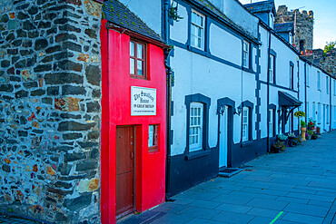 View of smallest house in Great Britain, Conwy, Gwynedd, North Wales, United Kingdom, Europe