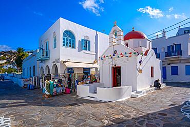 View of Agia Anna Church, Mykonos Town, Mykonos, Cyclades Islands, Greek Islands, Aegean Sea, Greece, Europe