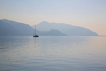 Boat on Aegean Sea, Marmaris, Anatolia, Turkey, Asia Minor, Eurasia