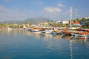 Harbour and boats Marmaris, Anatolia, Turkey, Asia Minor, Eurasia